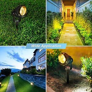 LEDMO Foco Proyector Exterior Foco COB LED con Estaca Lámpara Luz Blanco Cálido IP65 220V 9W Impermeable LED Bombilla Exteriores para Jardín Aire Libre Césped Patio Decoración: Amazon.es: Iluminación