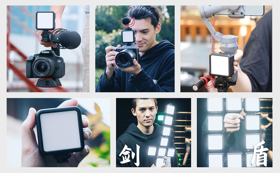 49 camera led video light with 2000mAh battery