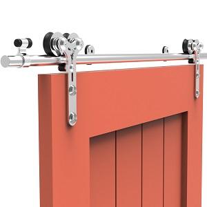 201cm/6.6FT kit de puerta corredera de acero inoxidable,Herrajes ...