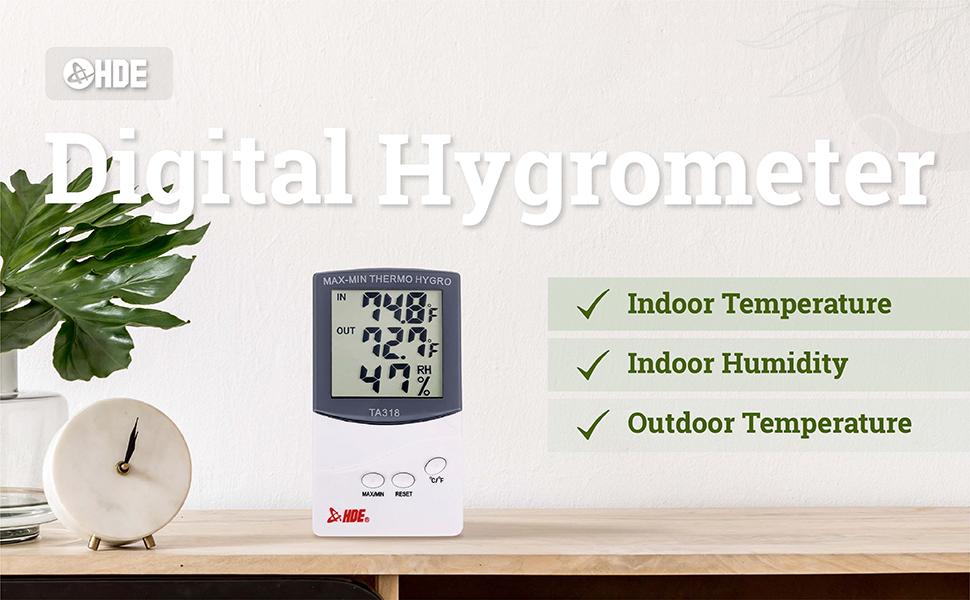 Details about  /Higrómetro digital profesional Termómetro interior Humedad ambiental