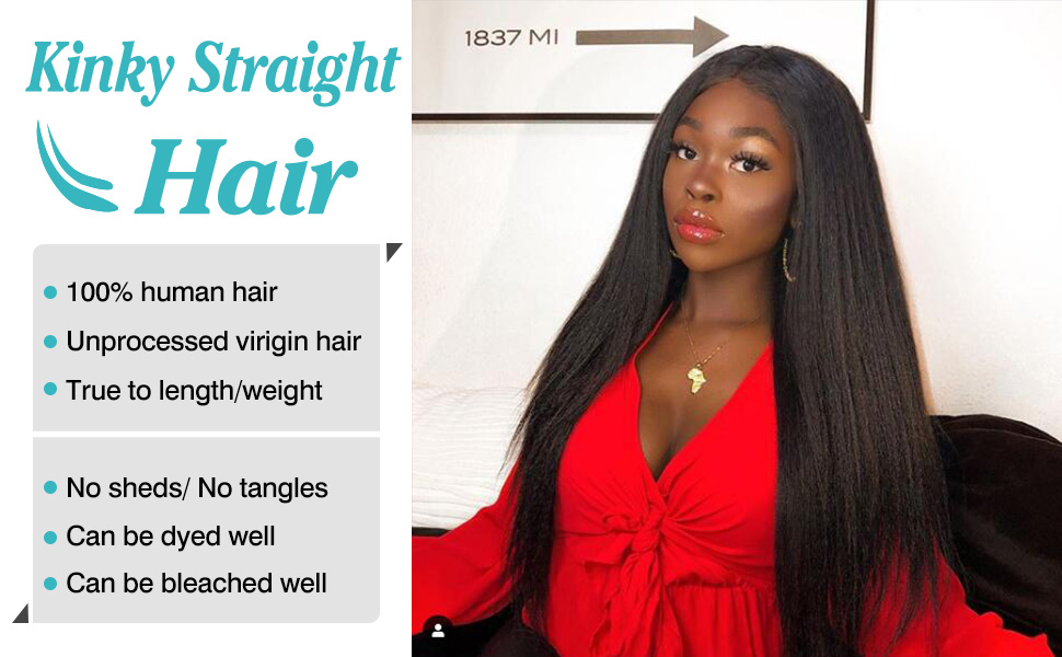 Brazilian kinky straight human hair