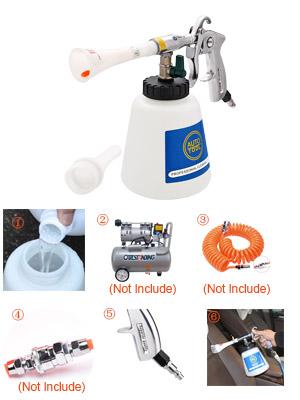 CPROSP High Pressure Car Cleaning Gun Interior Washing Air Tornado Gun Automotive Cleaning Equipment