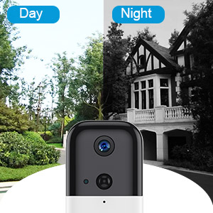 FUVISION Doorbell Security Camera with Chime,1080P Video Wireless Camera WiFi,Two-Way Audio,Motion Detector,Night Vision,Home Surveillance Cam-iOS//Android App