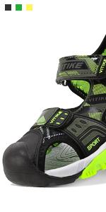 boys sandals green