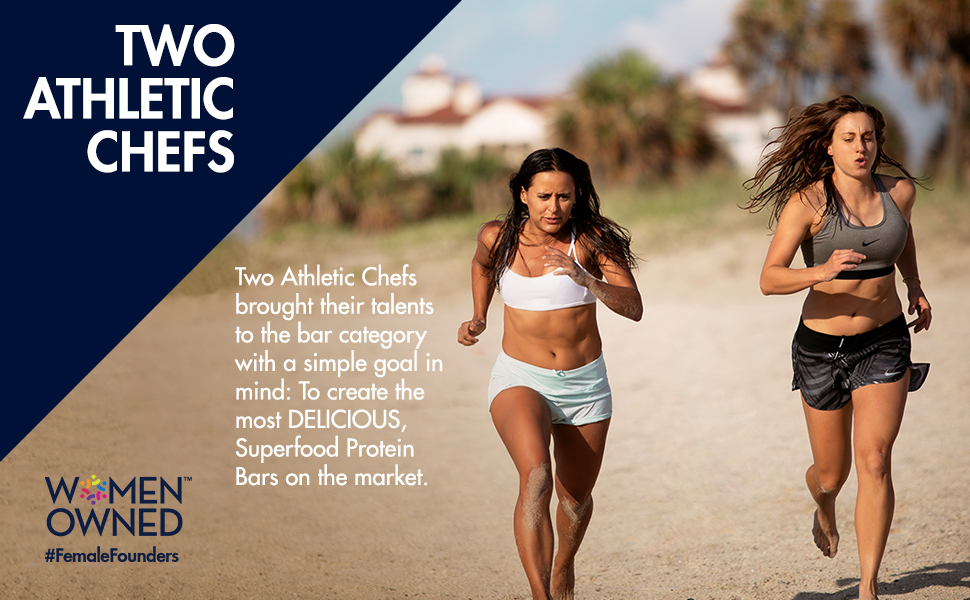 TWO ATHLETIC CHEFS