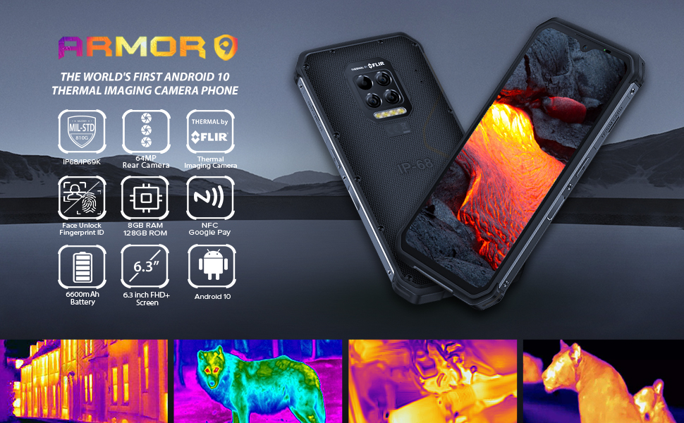 ulefone armor 9 rugged phones with Thermal Imaging Camera
