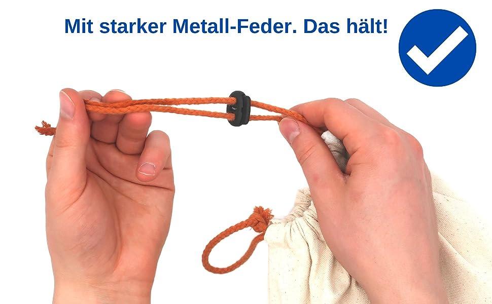 Koord stopper, koord klem, snelsluiting band, band stopper, koord clip