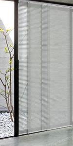 grey window track blind room divider