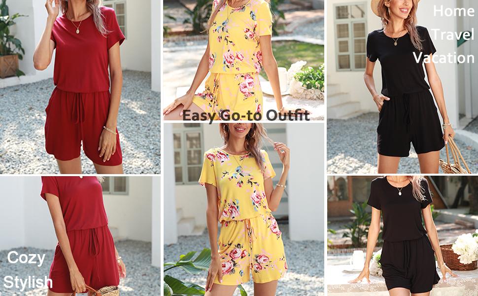 easy overall short jumpsuit for women