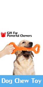 Dog Chew Toy for Aggressive Chewers, 13 Inch Large Solid Rubber Chew Toy with Soft Massaging Surface