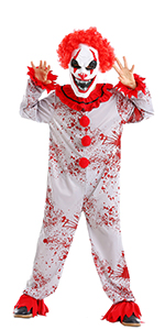Scary Horror Clown Costume
