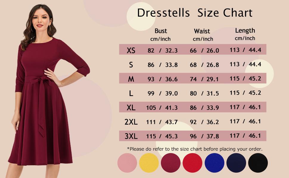 Fall Swing A Line Tea Length Dress