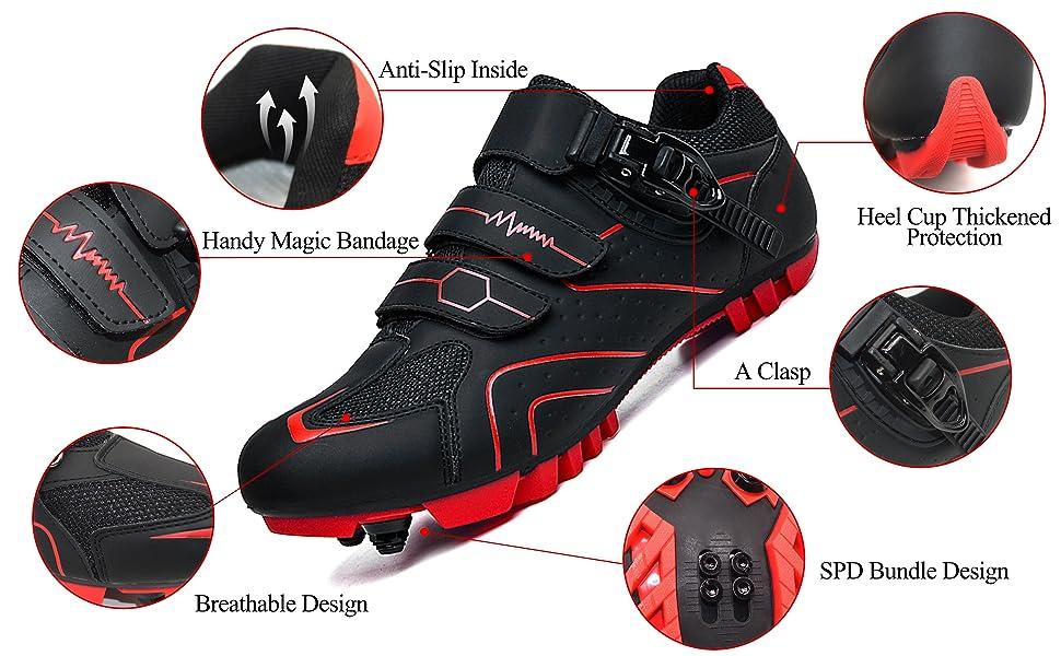 prodkfe mountain bike spd shoe detail map