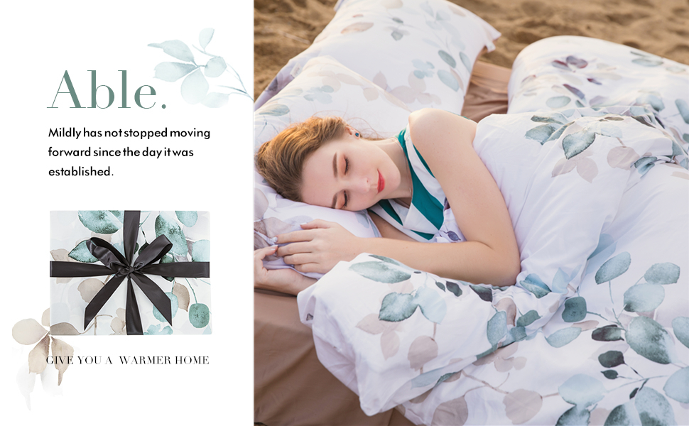 Modern Floral Print Bedding Birds Flowers Hibiscus Blossom Branches duvet cover set