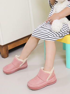 HomeTop Kids Comfy Microsuede Memory Foam House Shoes with Warm and Soft Plush Lining