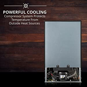 ivation wine cooler powerful compressor cooling