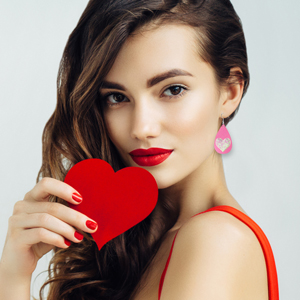 Valentine\u2019s Gifts Christmas Birthday Anniversary Triple Layer Faux Leather Earrings \u2013 Perfect for Bridesmaid