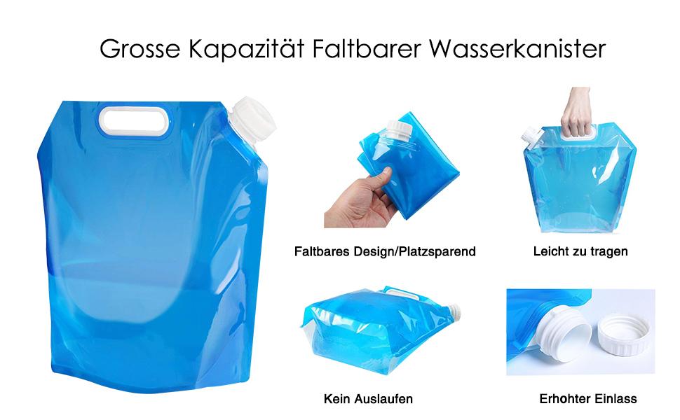 4 l Wasserkanister faltbar Wasserbehälter BPA-frei Trinkwasser Falt Kanister