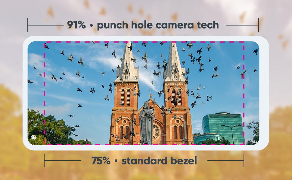 NUU Mobile G5 Bezel Punch Hole Camera