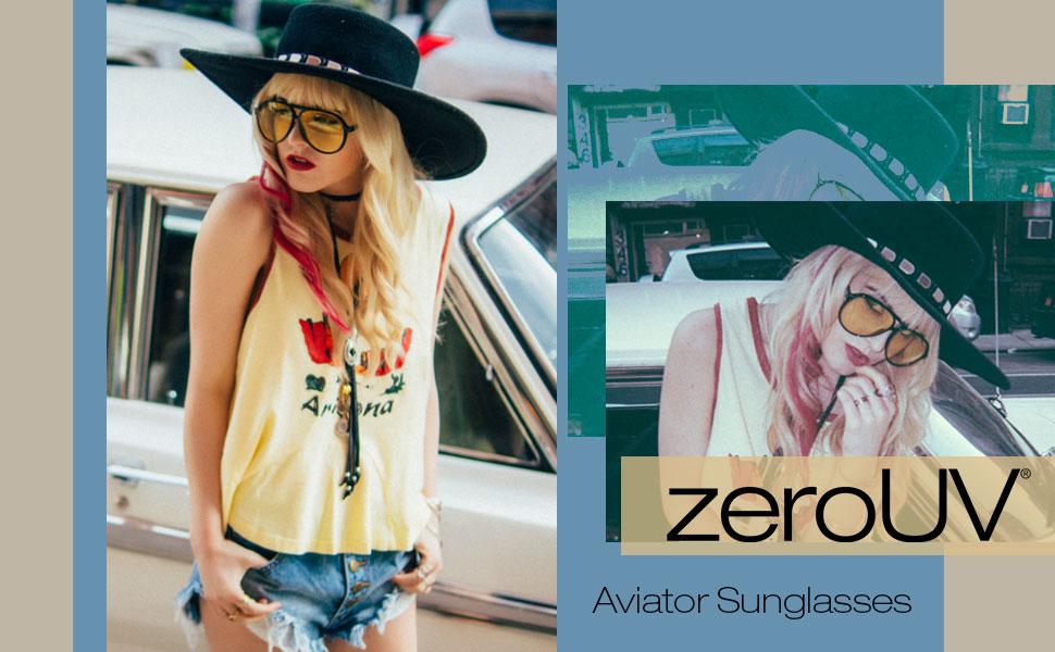 zeroUV Women's aviator Sunglasses For Women aviator pilot Sunglass for Girls