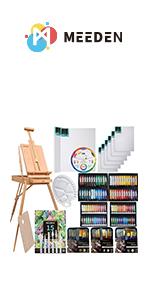 MEEDEN 145 Piece Deluxe Artist Painting Set