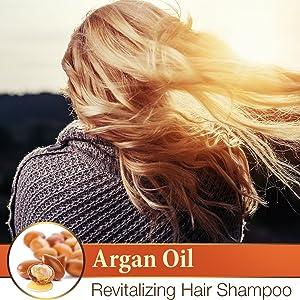 Argan Oil Revitalizing Hair Shampoo for Dry Damaged Hair
