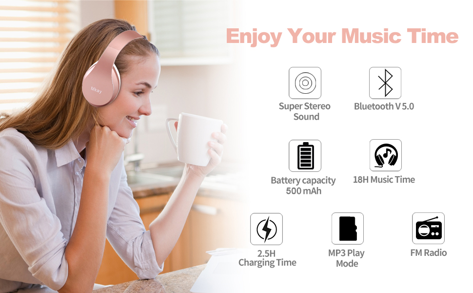 MKay_bluetooth_headphones_over_ear_wh816_rose_gold_banner