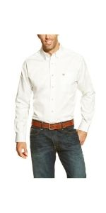 Solid Twill Fitted Shirt