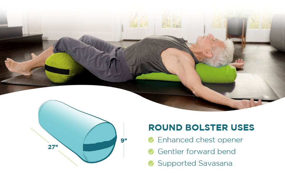 bean products round yoga bolster