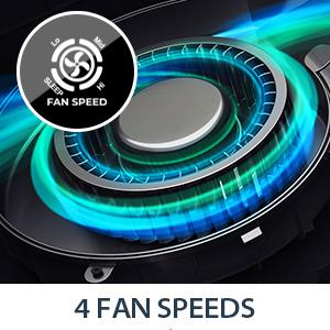3 FAN speed & sleep mode
