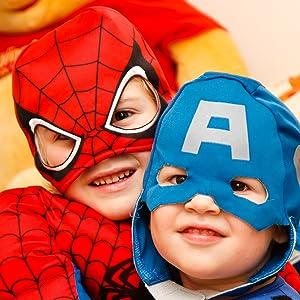 Superheroes, Spiderman, Captain America, Avengers Costume