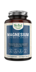 magnesium glycinate chelate 200 mg supplement relieve muscle cramping fitness energy metabolism