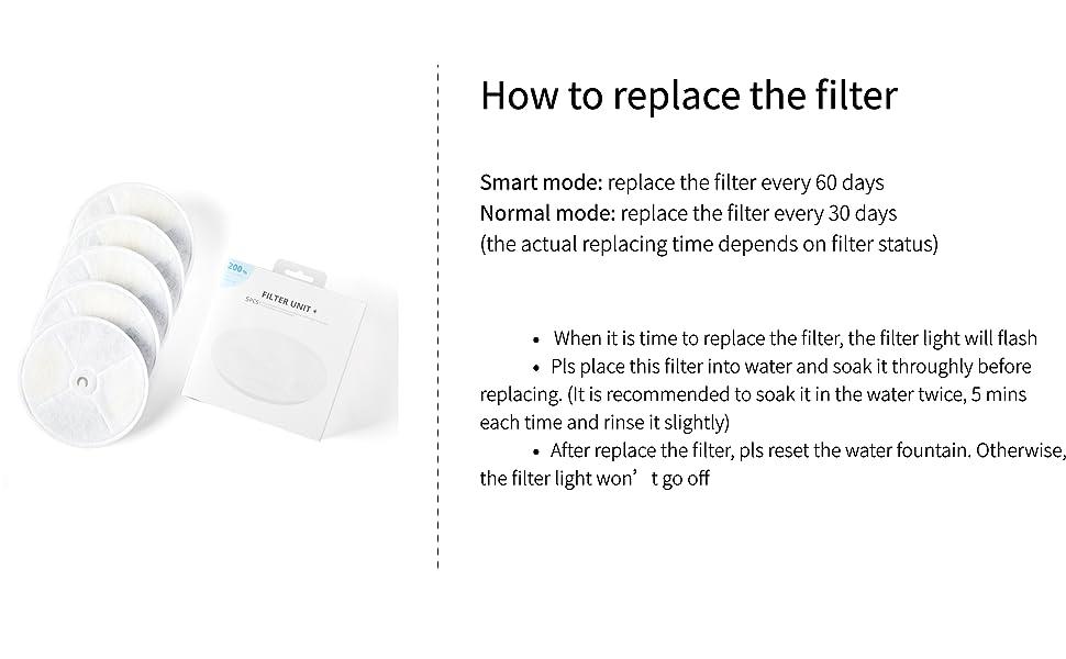 petkit water fountain filter