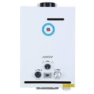 Samger Gas Natural 8L Calentador de Agua Pantalla Digital 1.5 ...