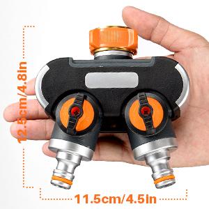 Wasserhahnadapter mit 2 Dichtgummis Y-Wege-Wasserschlauchanschluss 3//4 Zoll Wasserschlauchadapter Homitt 2-Wege-Verteiler