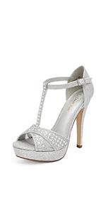 women High Heel Fashion Stilettos Peep Toe Pump Heeled Sandals