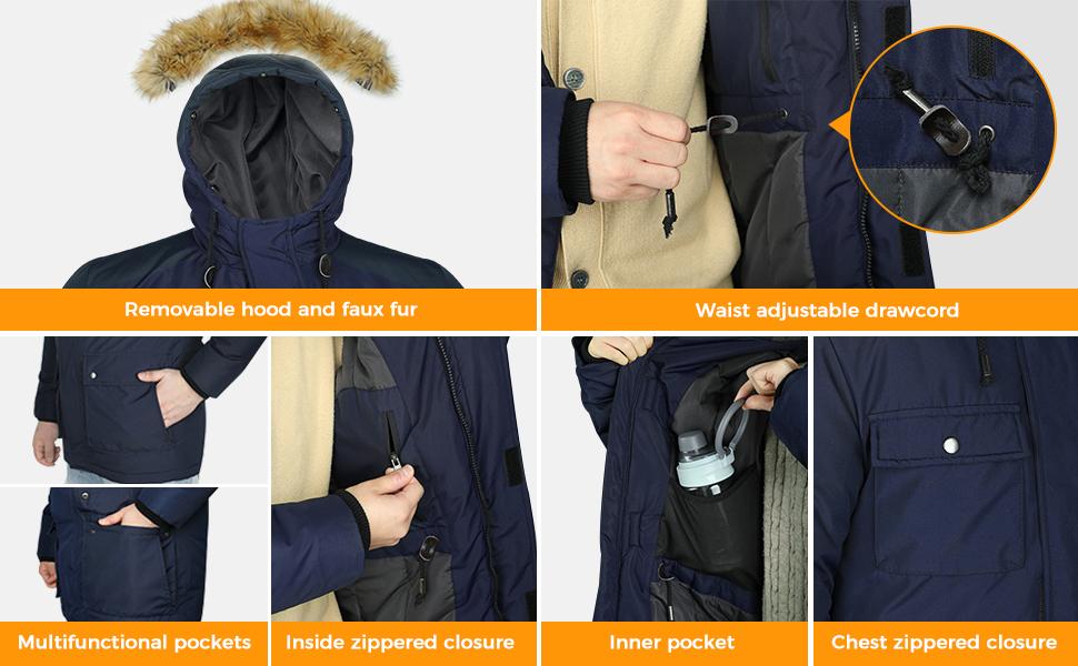 Wantdo Men's Thicken Parka Puffer Jacket