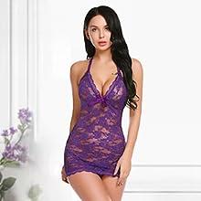 purple lace lingerie for women