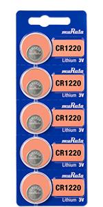 Murata lithium battery, size CR1220