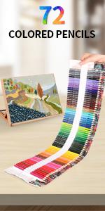 72 colored pencils sets