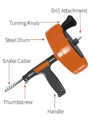 drain auger plumbing snake