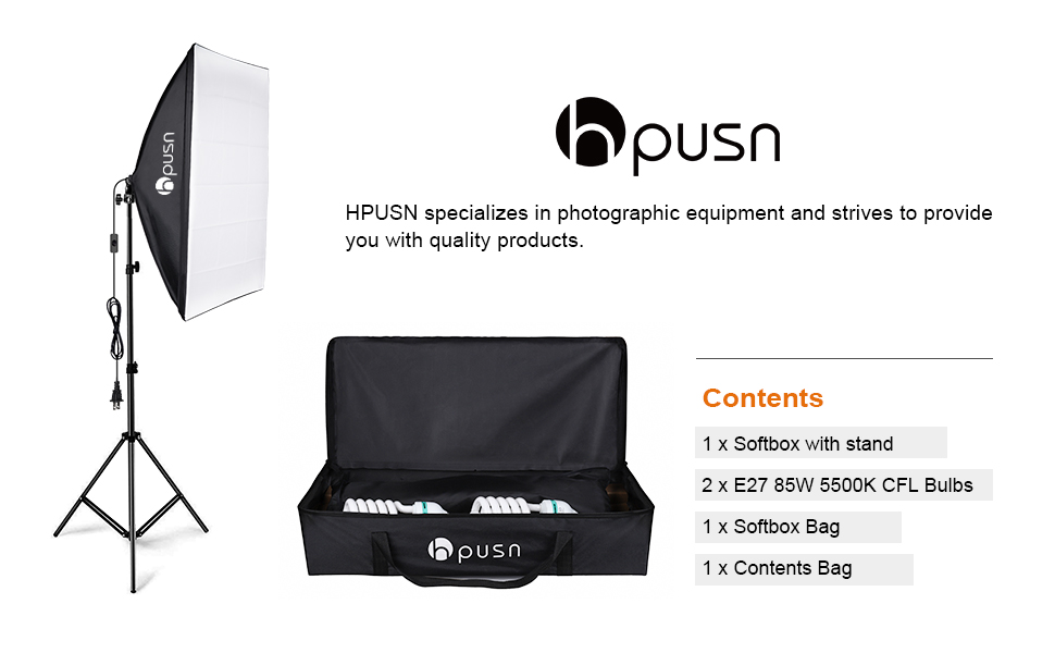 Photography Studio keep therefore supply HPUSN Softbox Lighting Kit