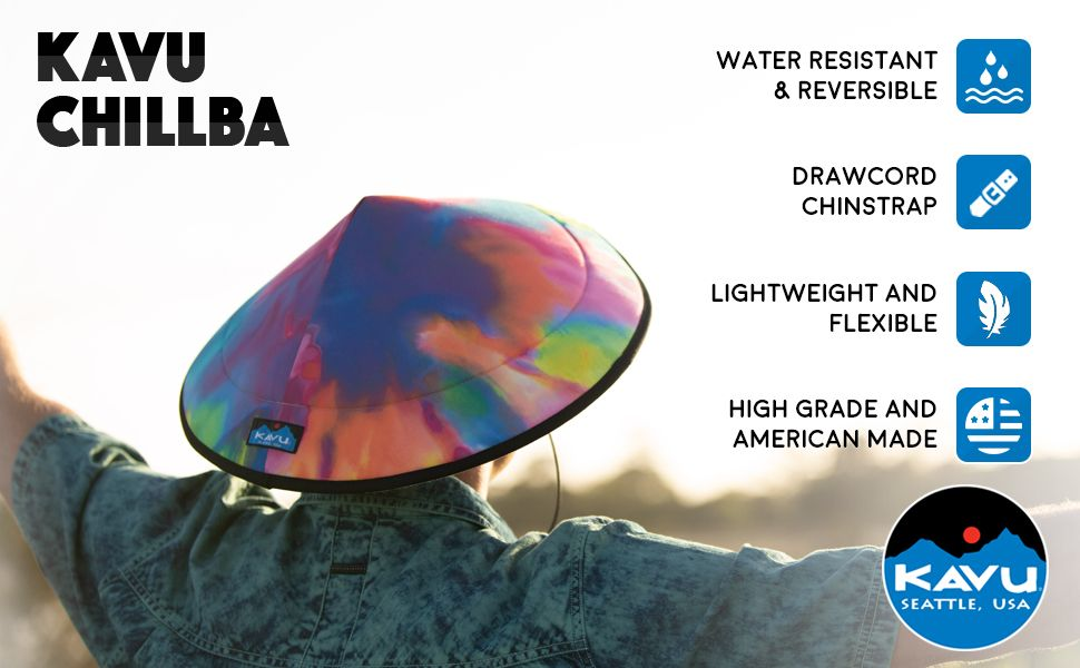 KAVU Chillba Sun Hat Water Resistant Fishing Cap