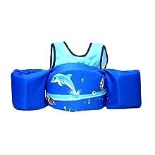 blue swim float vest
