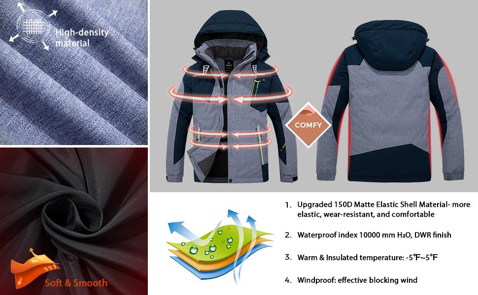 Wantdo Men's snow jacket