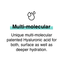 Minimalist Multi molecular Hyaluronic Acid for Instant Glow and plump look hydrating moisturization