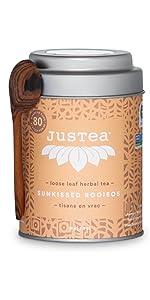 sunkissed rooibos loose leaf organic fair trade tea