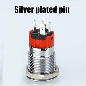 Silver plated pin