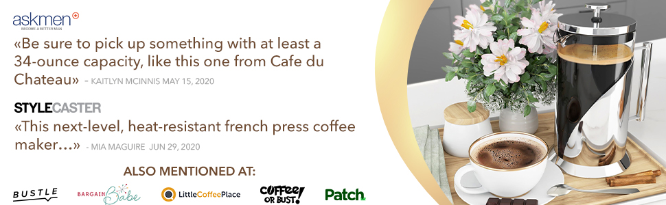 french press cafe du chateau