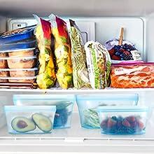 Reusable Silicone Zip cuprefrigerator